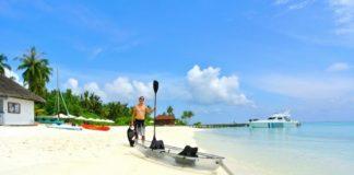 kayak on beautiful beach