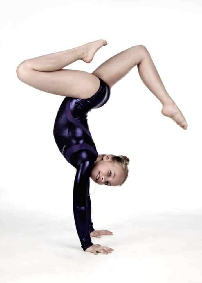 child gymnast tumbling
