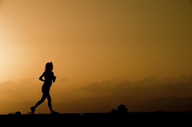 running at dawn