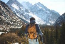 north face backpack outdoors hiking