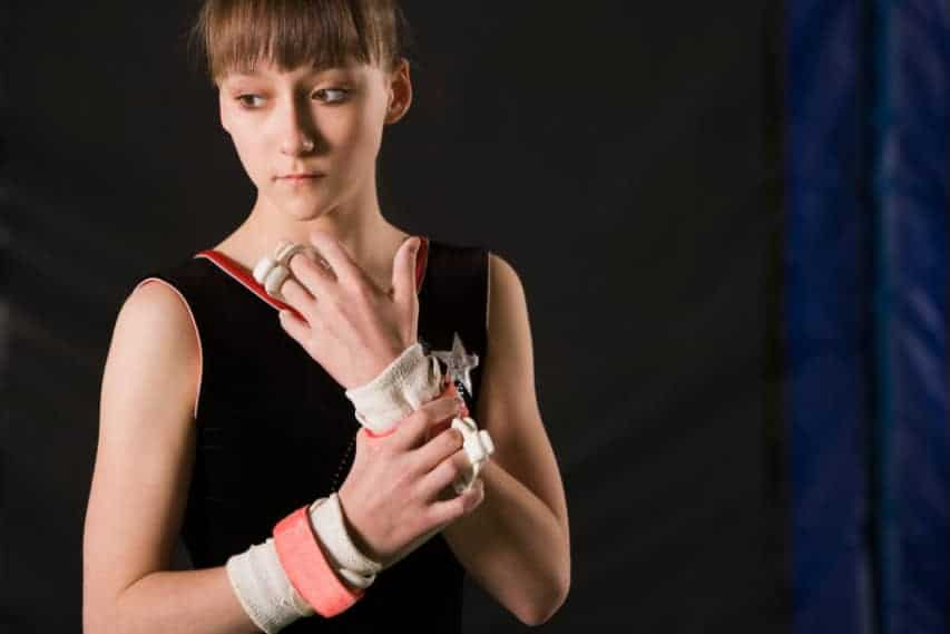 gymnast wearing wrist support