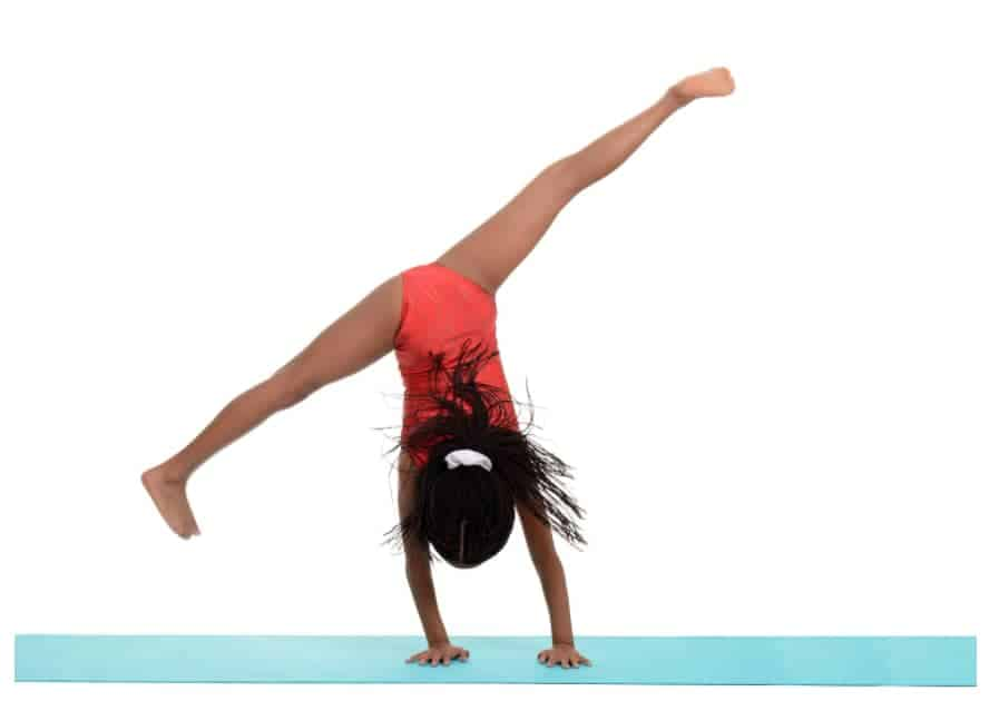 gymnastics cartwheel block