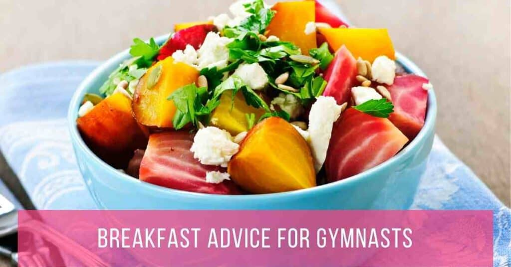 breakfast advice for gymnasts