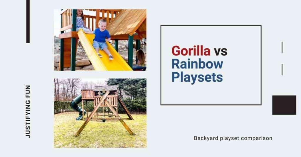 gorilla vs rainbow playsets
