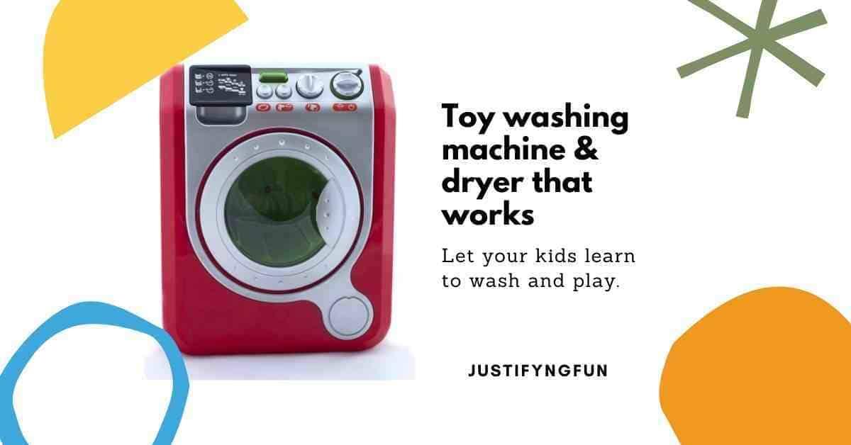 toy washing machine with dryer